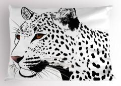 Siyah Beyaz Leopar Yastık Kılıfı Şık Tasarım