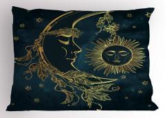 Aydede ve Güneş Desenli Yastık Kılıfı Yıldızlar
