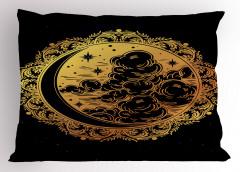 Yıldızlar Bulutlar ve Ay Yastık Kılıfı Geometrik