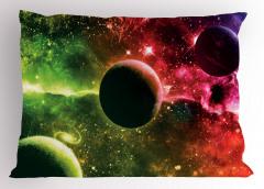 Uzayın Derinlikleri Desenli Yastık Kılıfı Gezegenler