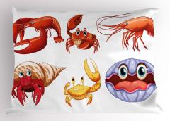 Deniz Hayvanları Yastık Kılıfı Dekoratif Tasarım