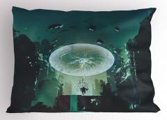 Yıldırım Küresi Temalı Yastık Kılıfı Yeşil Şık Tasarım