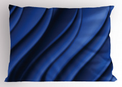 Dekoratif Dalga Desenli Yastık Kılıfı Şık Lacivert