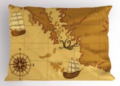 Nostaljik Harita Yastık Kılıfı Şık