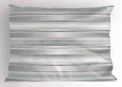 Gri Beyaz Zikzak Desenli Yastık Kılıfı Şeritli