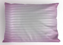 Çizgili Mor Beyaz Desenli Yastık Kılıfı Dekoratif
