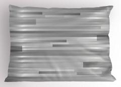 Gümüş Şerit Desenli Yastık Kılıfı Dekoratif Şık