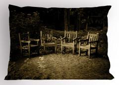 İskemle Desenli Yastık Kılıfı Nostaljik Kahverengi