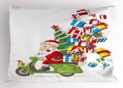 Noel Baba ve Hediye Yastık Kılıfı Çocuk İçin