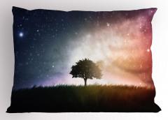 Ağaç ve Uzay Temalı Yastık Kılıfı Yıldız Galaksi Evren