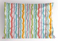Rengarenk Çizgili Yastık Kılıfı Dekoratif Şık