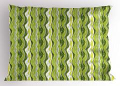 Yeşil Şeritli Yastık Kılıfı Şık Tasarım Dekoratif
