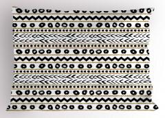 Çizgili Desenli Yastık Kılıfı Siyah Altın Yaldız Beyaz