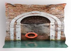 Tuğla Duvar Kemer Deniz Yastık Kılıfı Şık