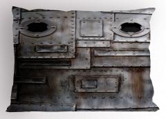 Yamalı Çelik Kapı Yastık Kılıfı Şık Tasarım