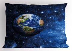 Dünya ve Yıldızlar Yastık Kılıfı Şık Tasarım