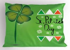 Dört Yapraklı Yonca Yastık Kılıfı İrlanda Bayrağı