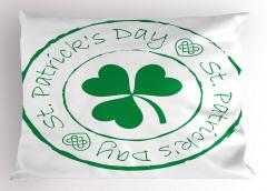 Yeşil Yoncalı Desen Yastık Kılıfı Aziz Patrik Günü