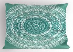 Mandala Çiçeği Desenli Yastık Kılıfı Dekoratif