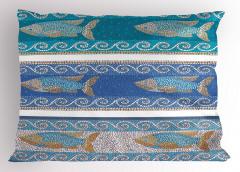 Mozaik Balık Desenli Yastık Kılıfı Dekoratif