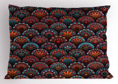 Dairesel Mozaik Desenli Yastık Kılıfı Rengarenk