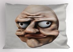 Çılgın Amorf Yakışıklı Yastık Kılıfı 3D Efektli