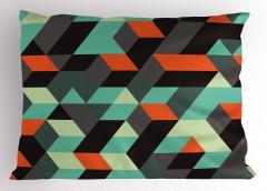 Şık Geometrik Desenli Yastık Kılıfı 3D Etkili