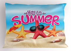 Denizyıldızı ve Kabuk Yastık Kılıfı Merhaba Yaz
