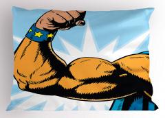 Kaslı Erkek Desenli Yastık Kılıfı Karikatür Etkili