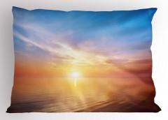 Denizde Gün Batımı Yastık Kılıfı Doğada Huzur Gökyüzü