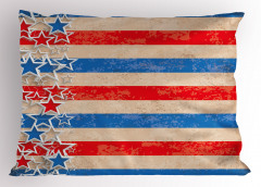 Kalpli Amerikan Bayrağı Yastık Kılıfı Nostaljik