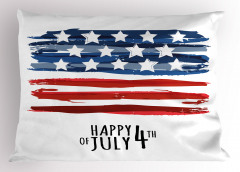 Dört Temmuz Kutlaması Yastık Kılıfı Lacivert