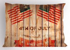 Bulutlar ve ABD Bayrağı Yastık Kılıfı Dört Temmuz