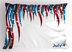 Kalpli Amerikan Bayrağı Yastık Kılıfı Şık