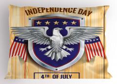 4 Temmuz Özgür Kartal Yastık Kılıfı Kartal
