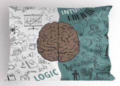 Beynin Bölümleri Yastık Kılıfı Kahverengi