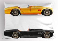 Spor Araba Desenli Yastık Kılıfı Sarı Siyah Trend