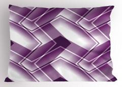 Mor Beyaz Soyut Desenli Yastık Kılıfı Geometrik