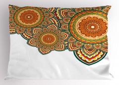 Rengarenk Üç Mandala Yastık Kılıfı Dekoratif