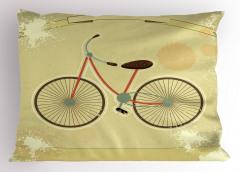 Nostaljik Bisiklet Yastık Kılıfı Dekoratif