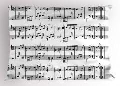 Porte ve Notalar Yastık Kılıfı Müziğin Dili