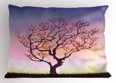 Rüzgarın Eğdiği Ağaç Yastık Kılıfı Şık