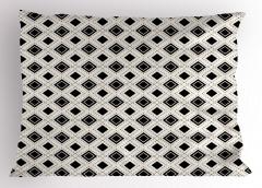 Siyah Beyaz Karolar Yastık Kılıfı Dekoratif