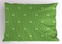 Dekoratif Yıldız Yastık Kılıfı Şık Yeşil