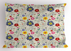 Yusufçuk Çiçek ve Kelebek Yastık Kılıfı Şık Tasarım