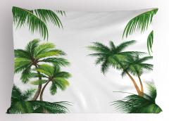 Hindistan Cevizi Ağacı Yastık Kılıfı Yeşil