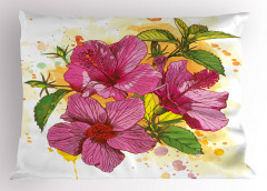 Amber Çiçeği Desenli Yastık Kılıfı Dekoratif Çeyizlik