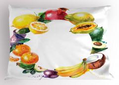 Meyvelerden Çember Yastık Kılıfı Natürmort