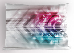 Teknolojik Şık Desenli Yastık Kılıfı Fütüristik Dizayn