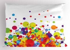 Rengarenk Daire Desenli Yastık Kılıfı Dekoratif Şık
